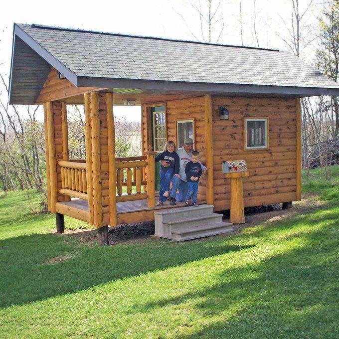 log siding playhouse