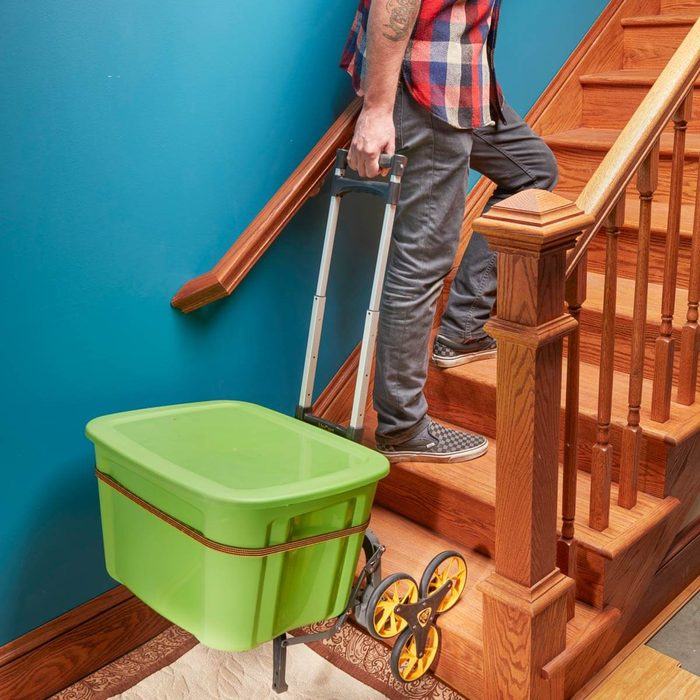 Kind  to Your Back— and Your Stairs
