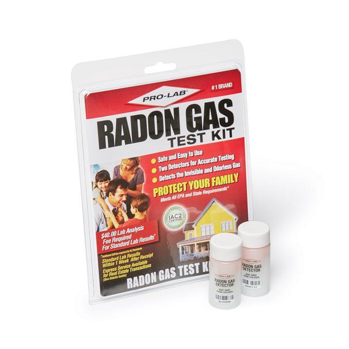 radon gas test