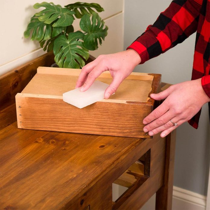 gulf wax for sticky wooden drawer HH handy hint