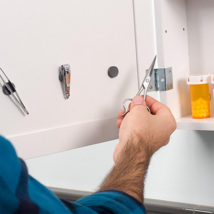 Hot Glue Gun Uses: Magnets in the Medicine Cabinet