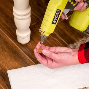 penny to fix wobbly furniture