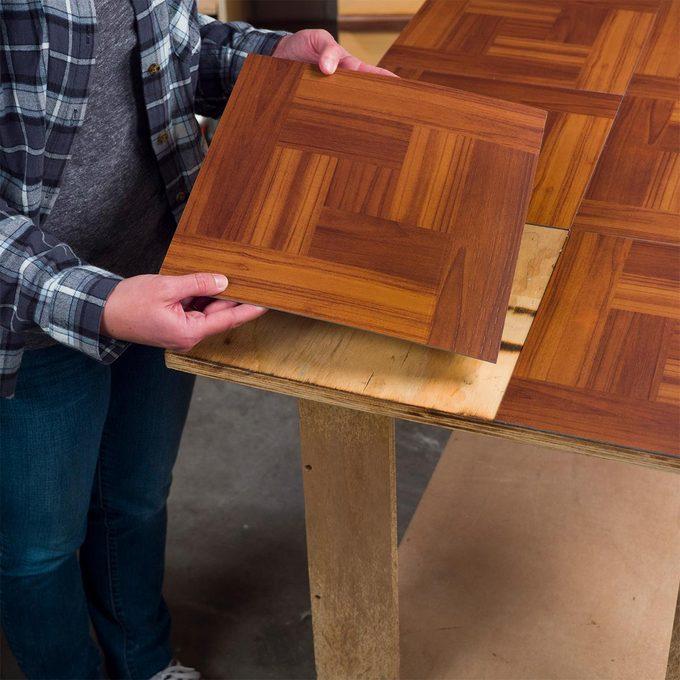 peel-and-stick vinyl tiles