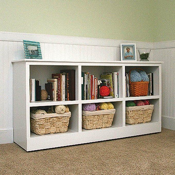 Hidden bed and bookshelf