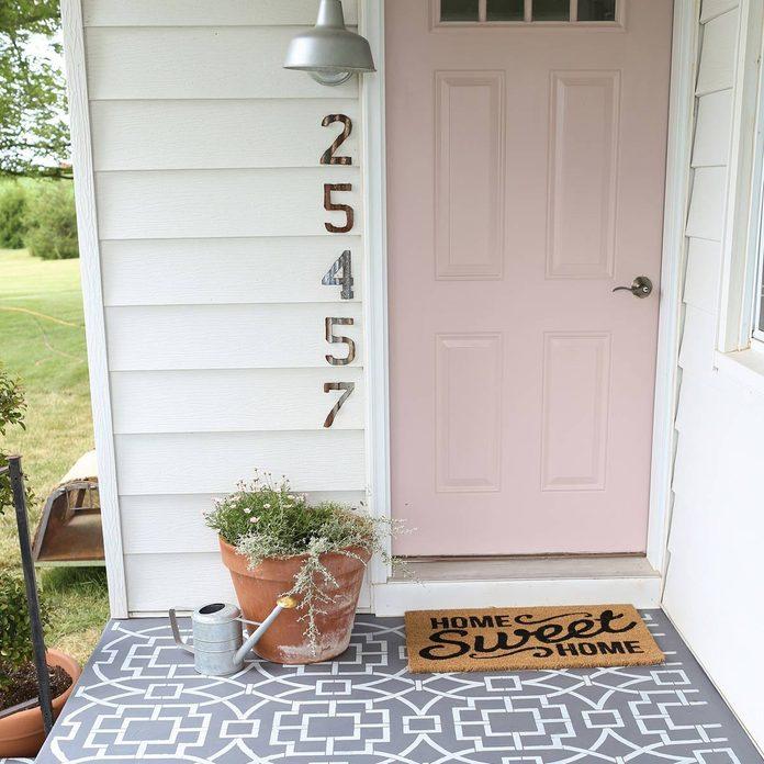 cement-tile2-1-of-1 painted porch floor pink front door