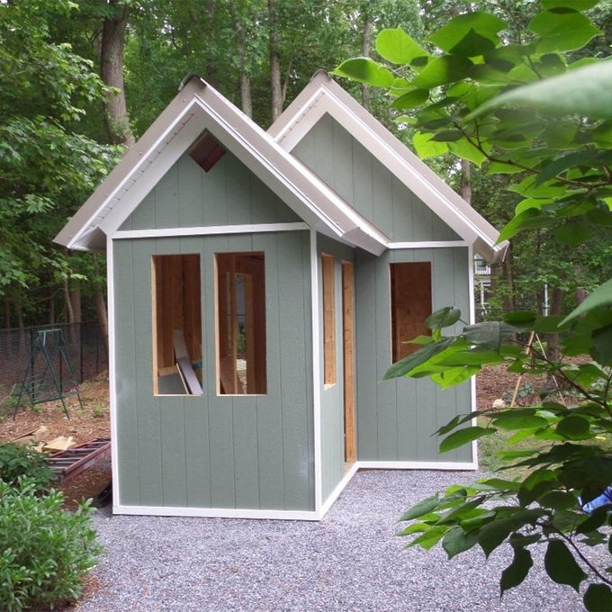 garden shed siding up