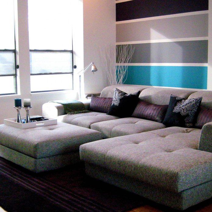 horizontalstripes paint living room