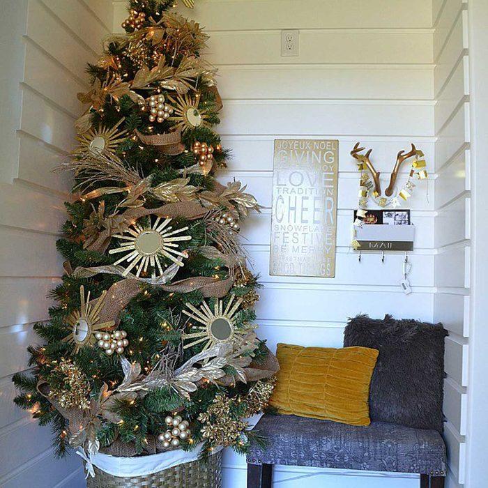 Sunburst Mirror Christmas Tree