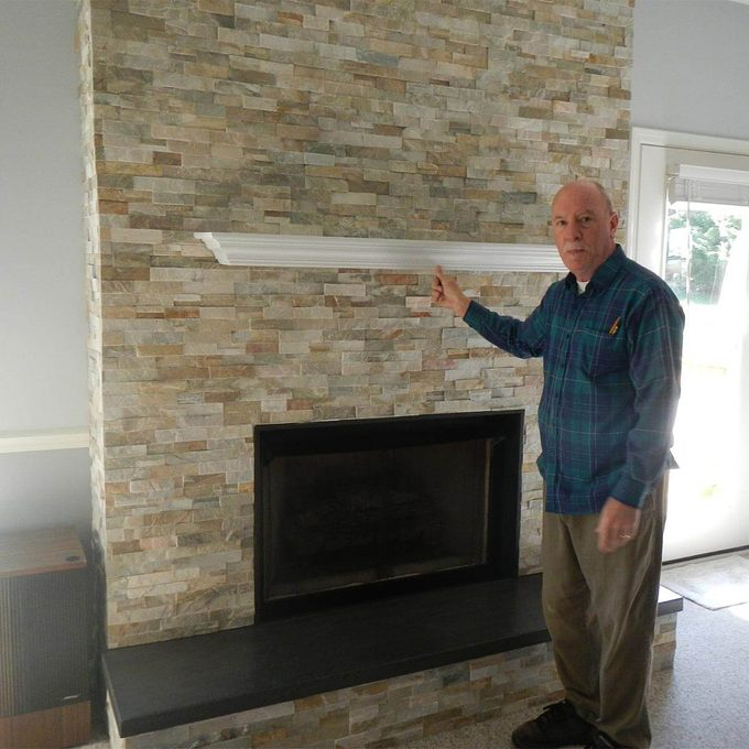 reader finished fireplace