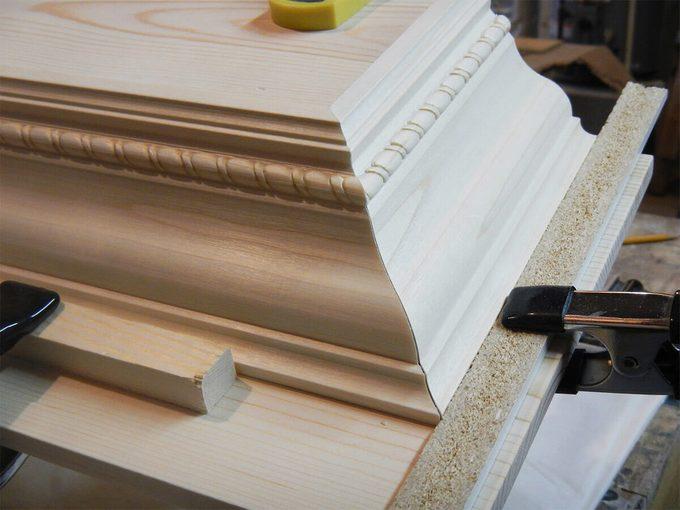 reader fireplace mantel in progress