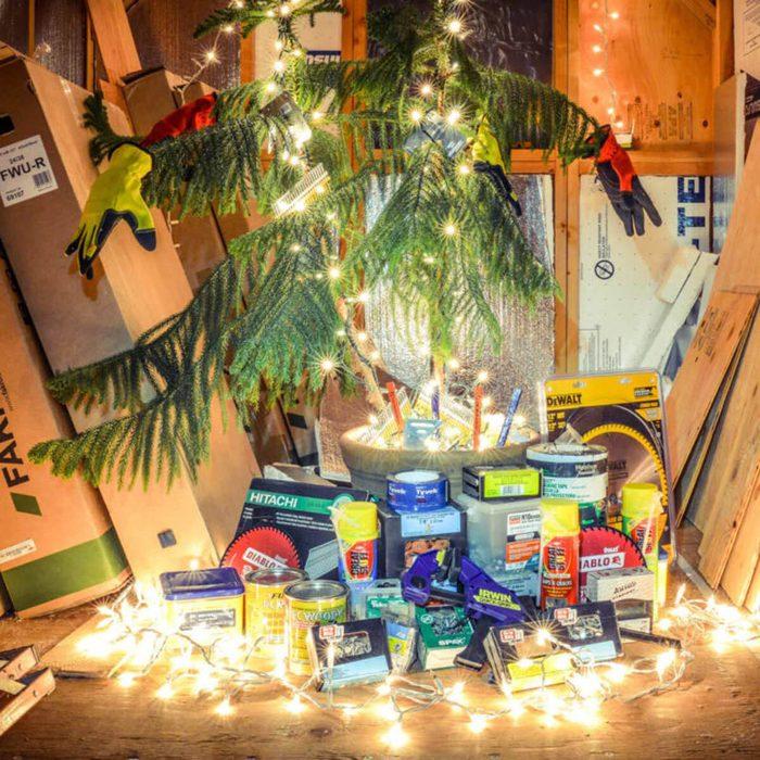 Improvised Christmas Decorating