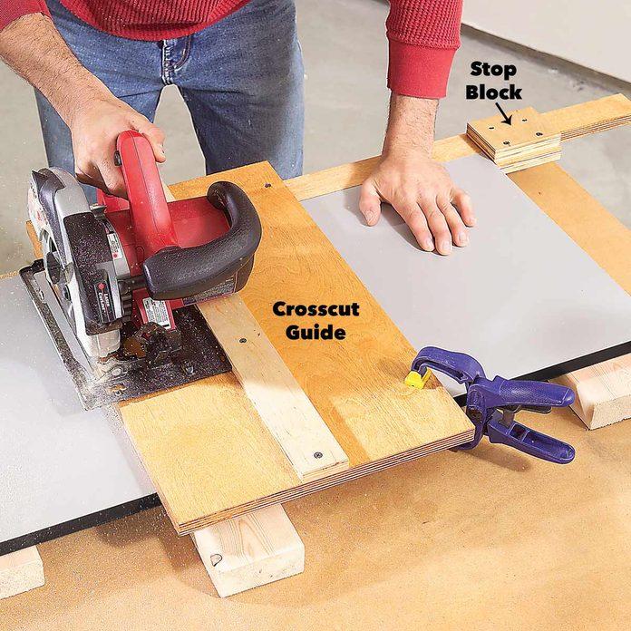 crosscut melamine garage cabinet parts