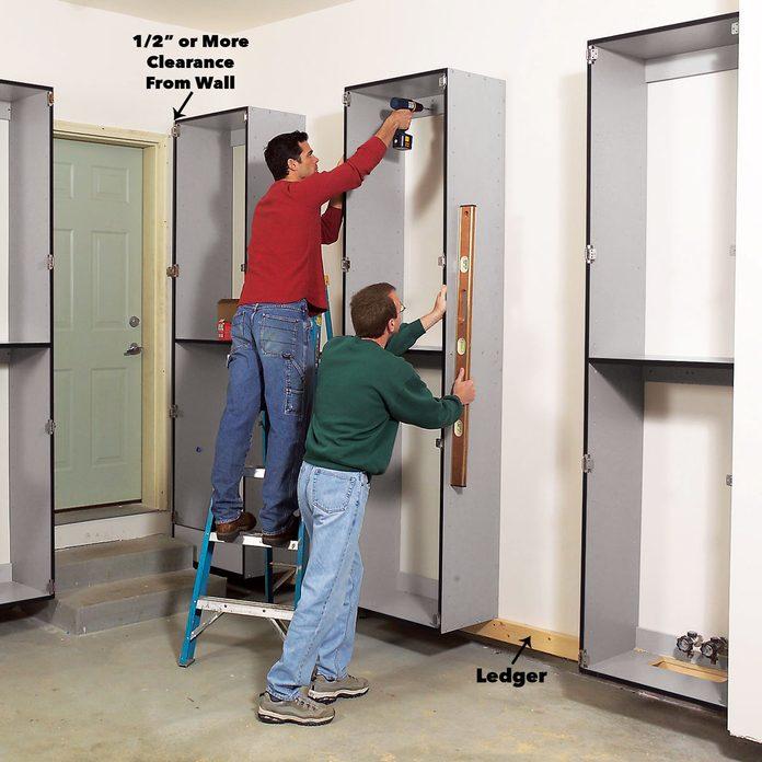 hang garage cabinets