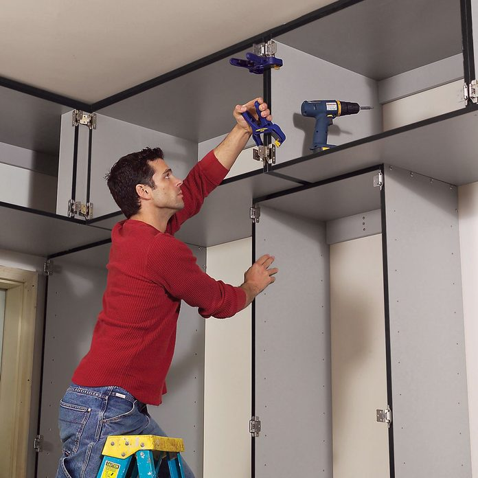 install upper cabinets