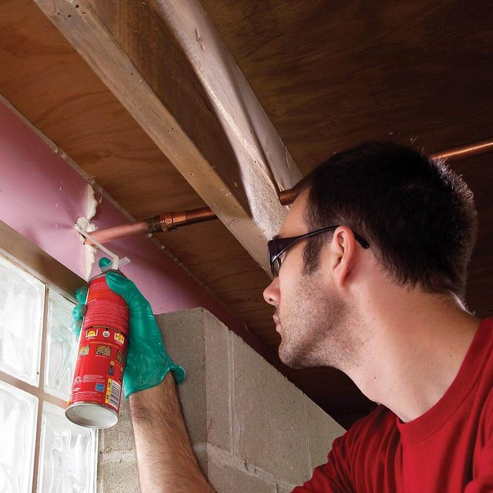 Work on Insulating the Pipes