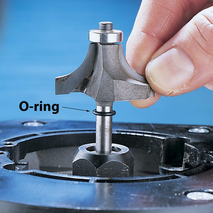 router bit with o-ring