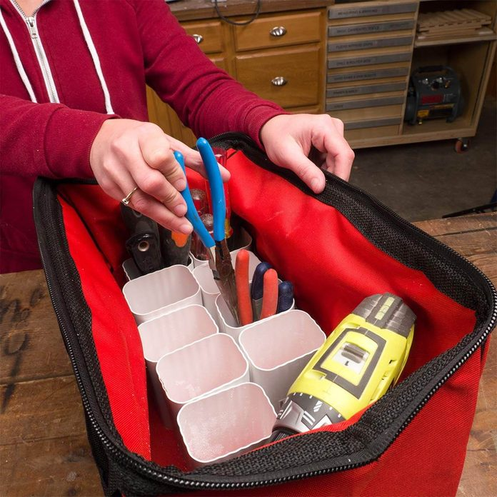 use gutters for tool organization HH