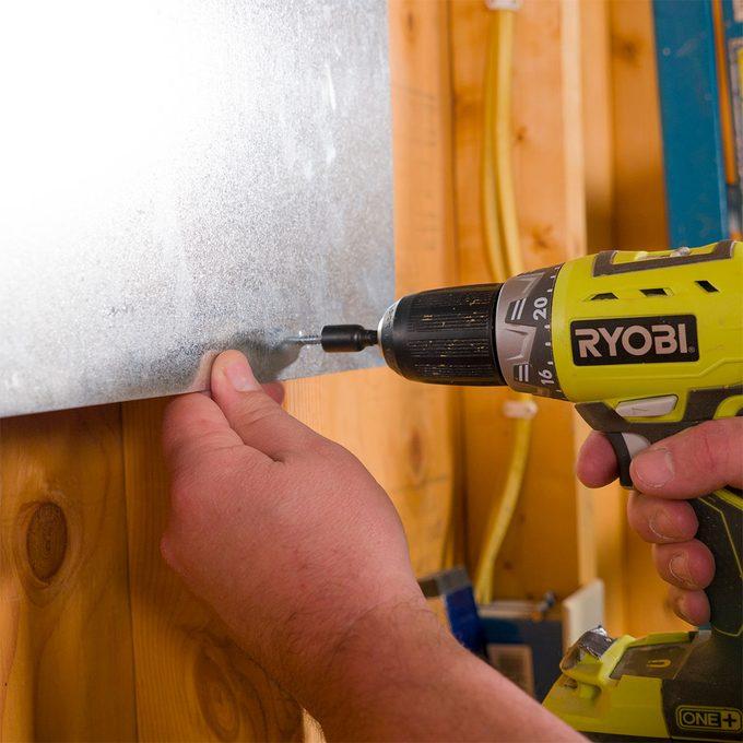 mounting sheet metal magnet board