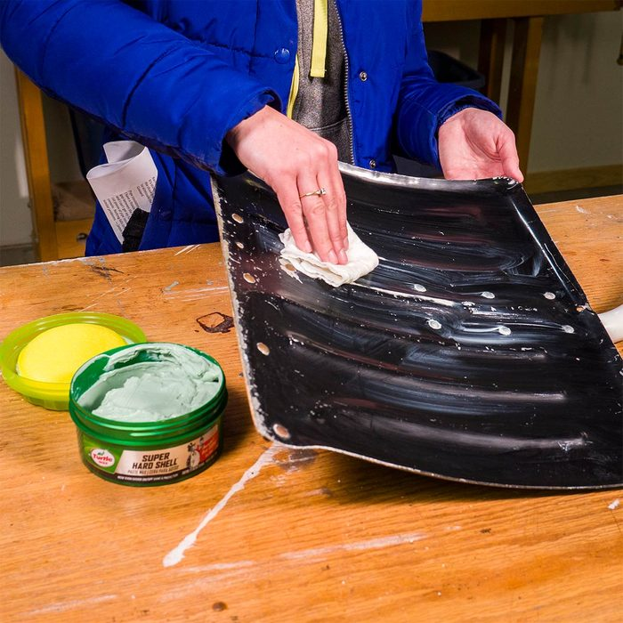 Coat Your Snow Shovel with Car Wax