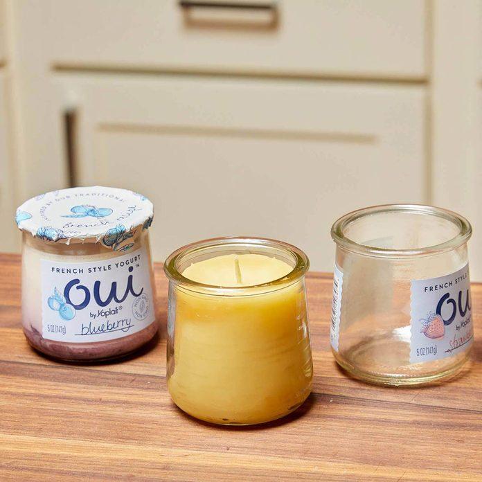 beeswaxcandles_006 yogurt jars