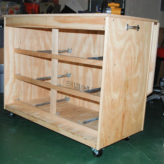 craft table drawer spaces