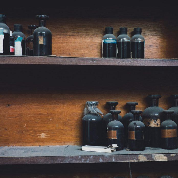 dfh10_shutterstock_563242678 chemical bottles Storing Hazardous Materials