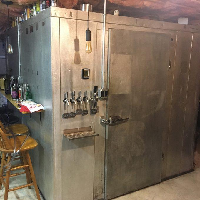 homemade-kegorator giant beer fridge key freezer