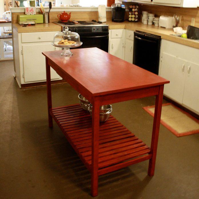 inexpensive island kitchen