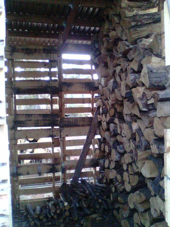 inside the pallet shed