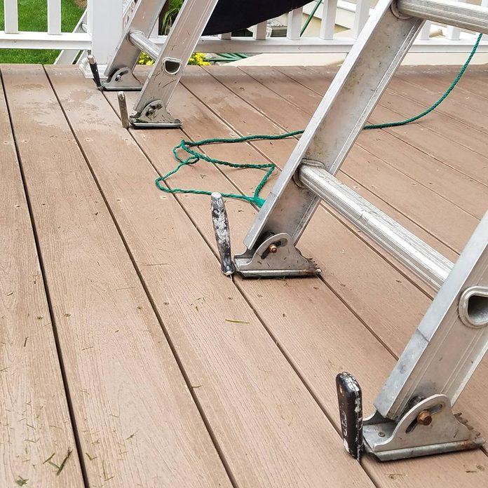 Anti-slip ladder trick