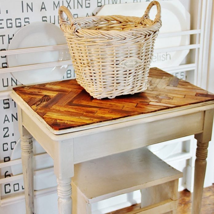 paint-stick-table top end table