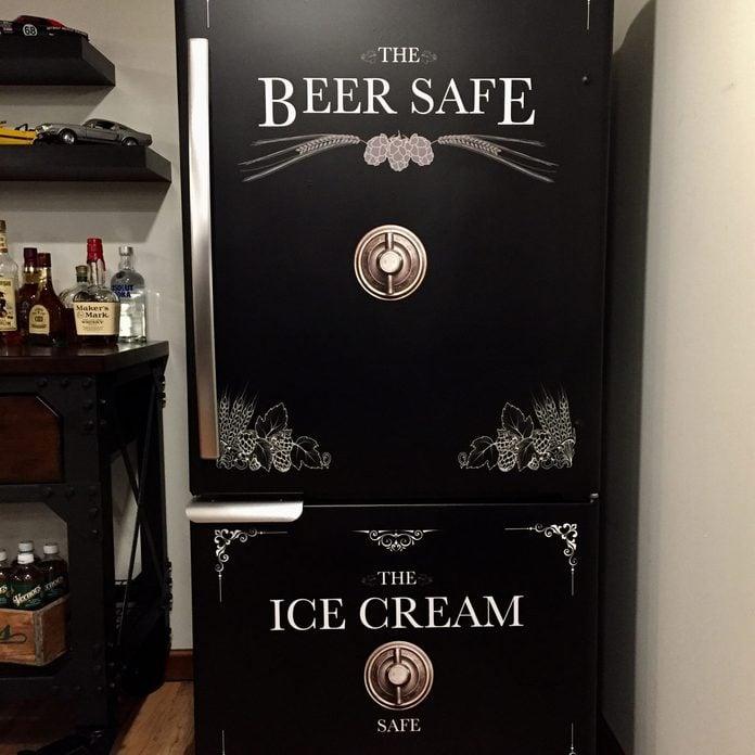 paintedfridge Beer fridge ice cream safe