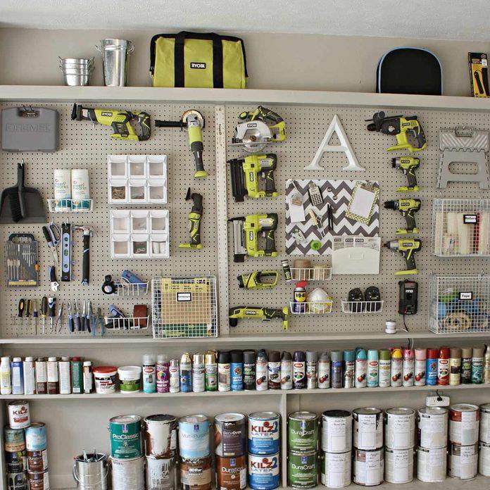 pegboard tool DIY craft storage