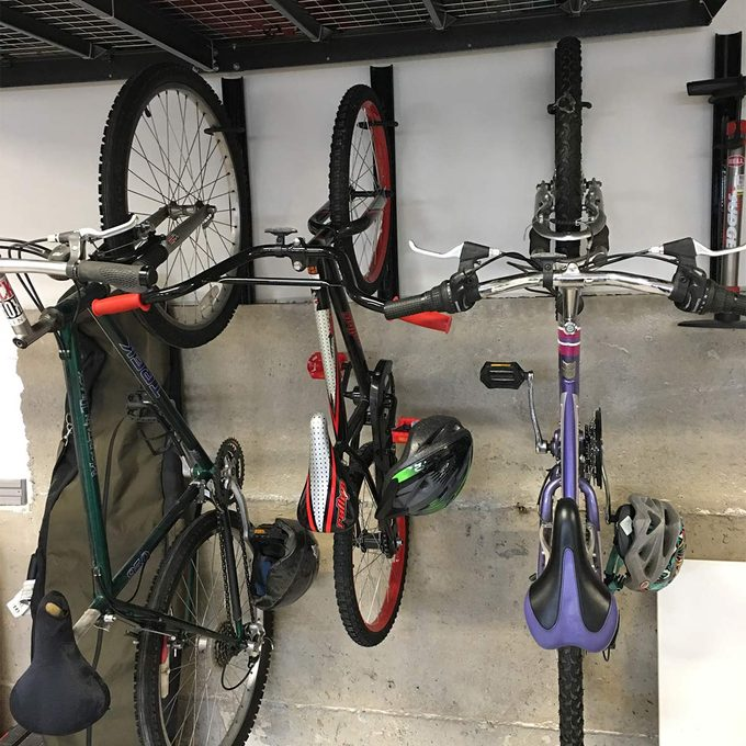 reader submitted bike hanging project