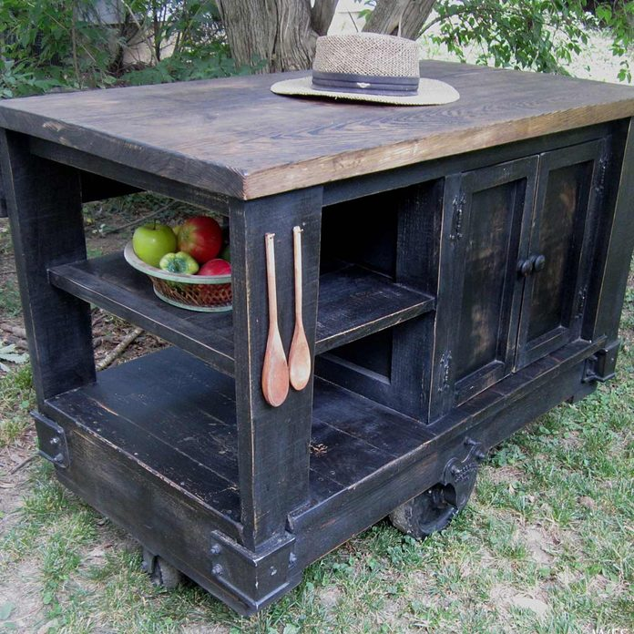rusticislandcart DIY kitchen