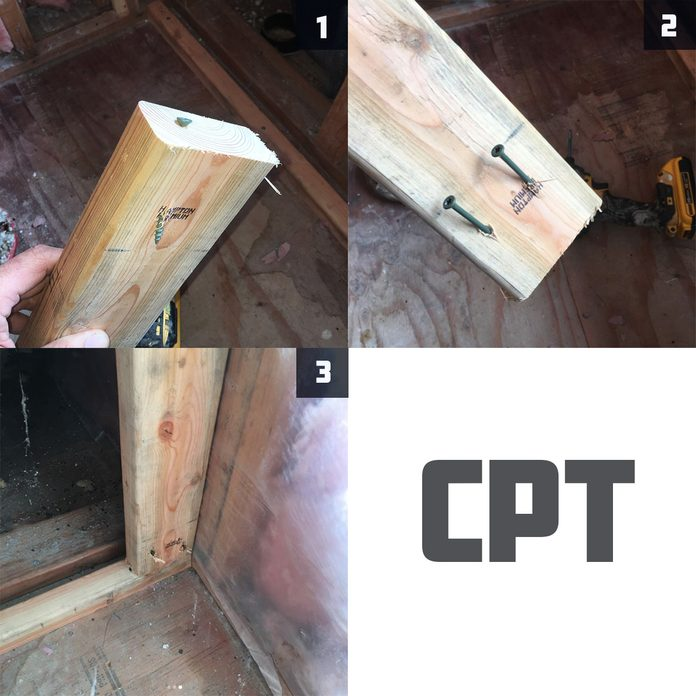 How to screw studs
