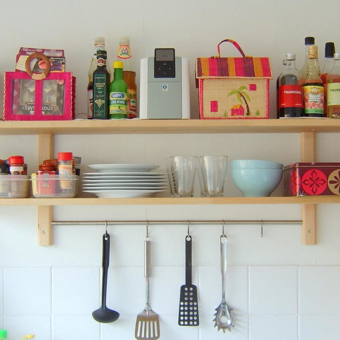 shelves-for-kitchen-wall open organizing your kitchen