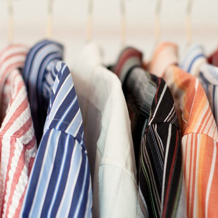 shutterstock_104450279 closet dress shirts