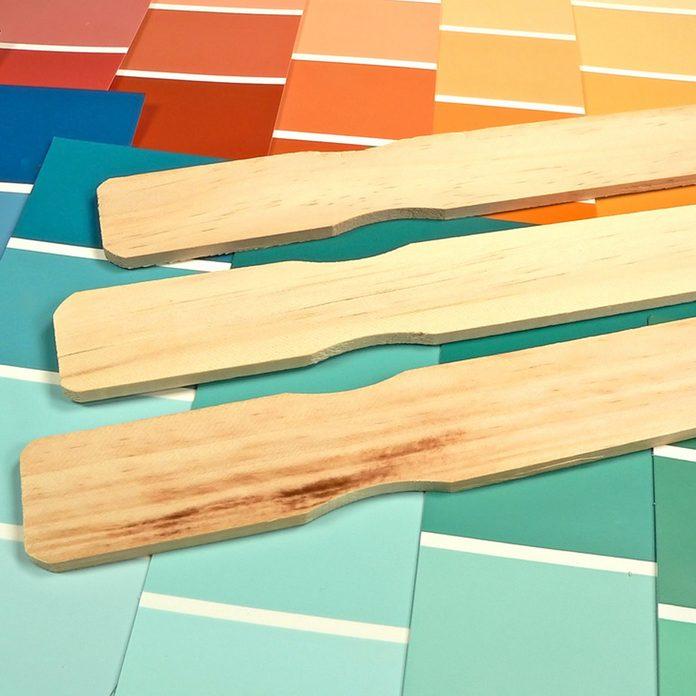shutterstock_2477262 paint stir sticks samples