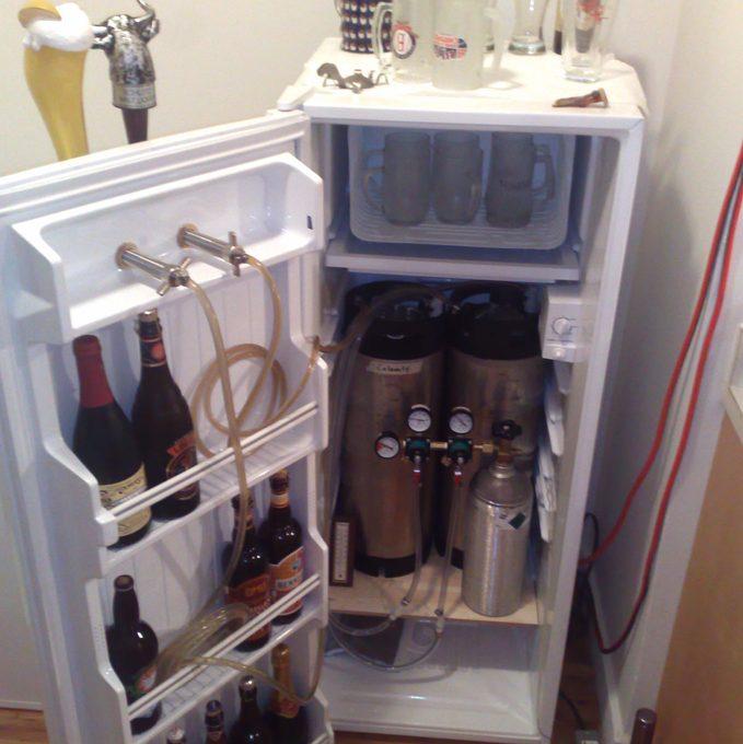 smallkegorator beer keg fridge