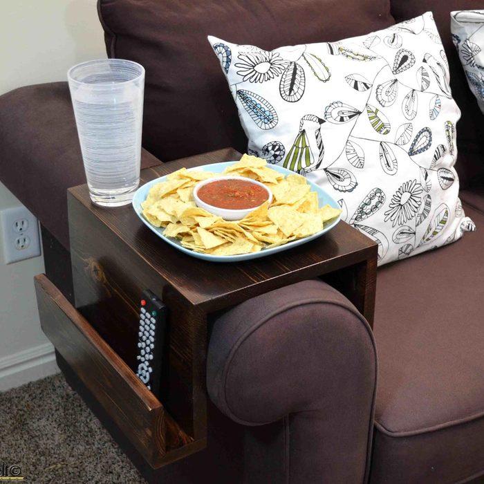 DIY Sofa Arm Table