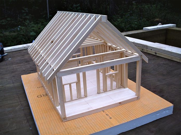 model of a tiny house from DIY University