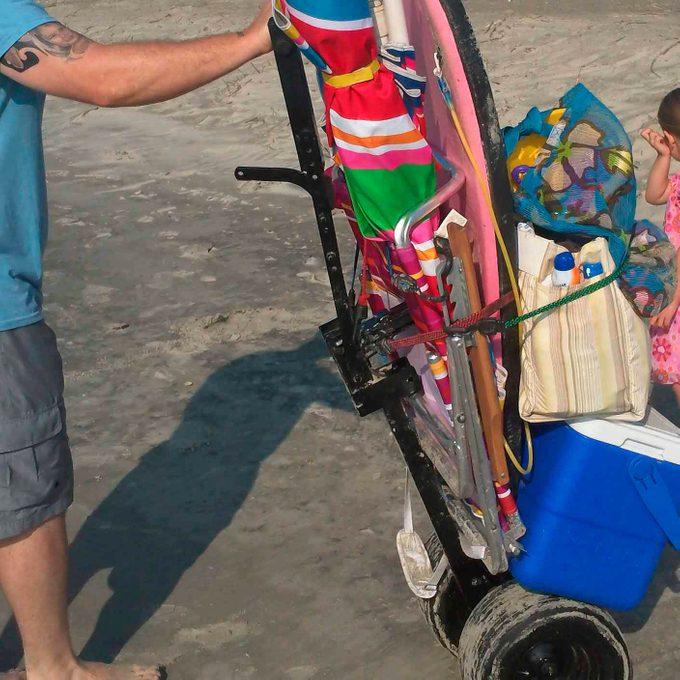 DIY beach cart