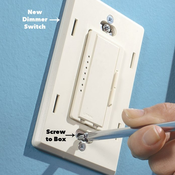 attach dimmer cover plate