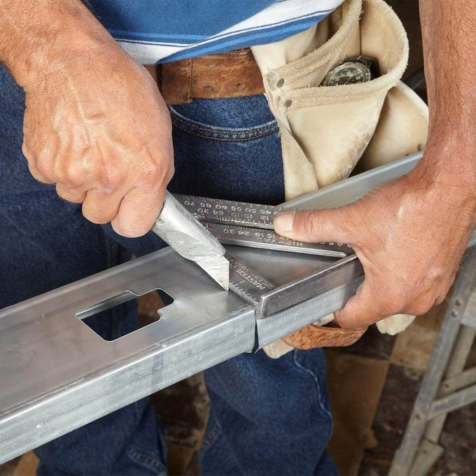 trying to cut steel stud with utility knife