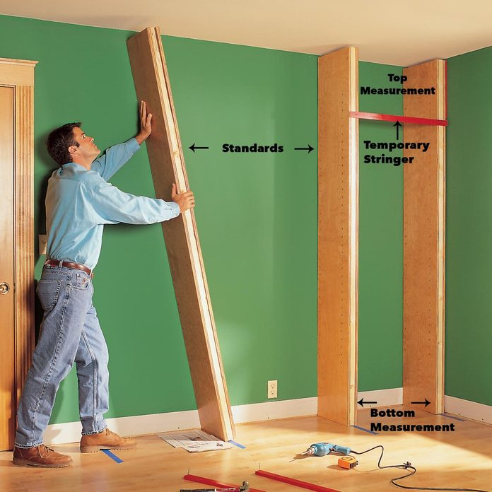 install standards bookcase