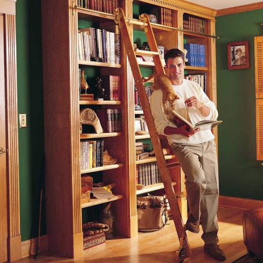 How to build a bookcase bookcase with rolling ladder, fancy bookshelf, home library bookshelves