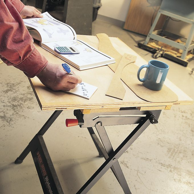 clamped work table