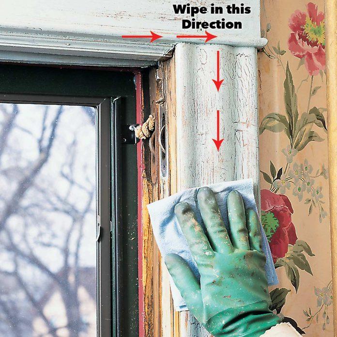 wipe away clean lead paint