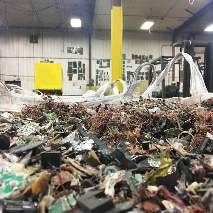shredded scrap e waste